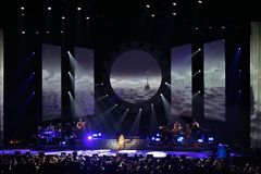 Mariah Carey bei Ericsson Globe in Stockholm stockfotos