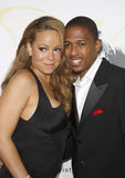 Mariah Carey en Nick Cannon Stock Foto