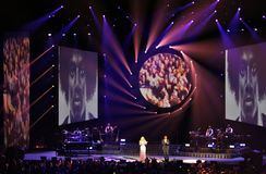 Mariah Carey at the Ericsson Globe in Stockholm Stock Photos