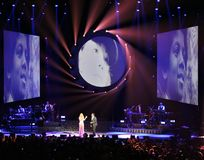 Mariah Carey at the Ericsson Globe in Stockholm Stock Photography