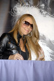 Mariah Carey at her CD Signing. Mariah Carey at her E=MC2 CD release autograph signing at Universal City. (c) Aaron D. Settipane royalty free stock images