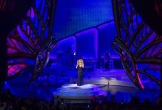 Mariah Carey Launches 'MARIAH 1 AAN ONEINDIGHEID' bij Caesars Palace I stock afbeelding