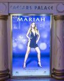 Mariah Carey 'MARIAH 1 TO INFINITY' poster In Las Vegas Stock Photography