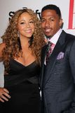 Mariah Carey,Nick Cannon stock image