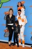 Mariah Carey, Nick Cannon, cannone marocchino e Monroe Cannon fotografia stock libera da diritti