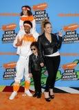 Mariah Carey, Nick Cannon, marockansk kanon och Monroe Cannon royaltyfria bilder