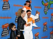 Mariah Carey, Nick Cannon, Marokański działo i Monroe działo, Zdjęcia Royalty Free