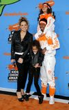 Mariah Carey, Nick Cannon, Moroccan Cannon and Monroe Cannon. At the Nickelodeon`s 2018 Kids` Choice Awards held at the Forum in Inglewood, USA on March 24 Royalty Free Stock Image