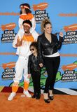 Mariah Carey, Nick Cannon, Moroccan Cannon and Monroe Cannon. At the Nickelodeon`s 2018 Kids` Choice Awards held at the Forum in Inglewood, USA on March 24 Royalty Free Stock Photography