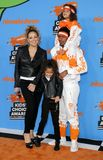 Mariah Carey, Nick Cannon, Moroccan Cannon and Monroe Cannon. At the Nickelodeon`s 2018 Kids` Choice Awards held at the Forum in Inglewood, USA on March 24 Stock Images