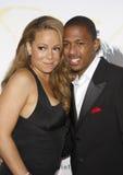 Mariah Carey och Nick Cannon Arkivfoto
