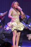 Mariah Carey performing live. Royalty Free Stock Image