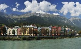 Mariahilf Street in Innsbruck Royalty Free Stock Photos
