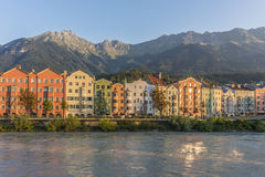 Mariahilf Street in Innsbruck, Austria. Royalty Free Stock Photo