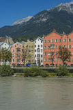 Mariahilf Street in Innsbruck, Austria. Royalty Free Stock Image