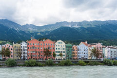 Mariahilf Street in Innsbruck, Austria. Royalty Free Stock Photography