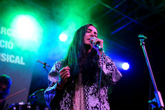 Mariam the Believer (music band solo project of Mariam Wallentin) performs at Barcelona Accio Musical (BAM) Stock Photo