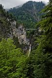 Marian Bridge. View on the Marian Bridge in the Bavarian Alps in Germany Royalty Free Stock Photography