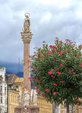 Marian Column in the Maria Theresa Street of Innsbruck, Austria Stock Image