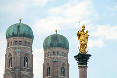 Marian Column, Marienplatz, Munich, Germany Royalty Free Stock Images