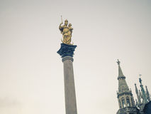 Marian column in Munich Stock Image