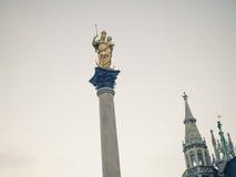 Marian column in Munich Stock Image