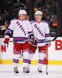 Marian Gaborik y Derek Stepan, New York Rangers Imagen de archivo libre de regalías