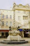 Marian kolom bij heer vierkante St Pölten Stock Foto