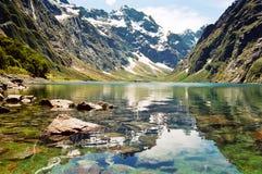 Marian meer, Nieuw Zeeland Royalty-vrije Stock Afbeeldingen