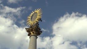 Marian Pillar Column al quadrato di Svoboda a Brno è stato costruito fra 1679 e 1683 in memoria dell'epidemia di peste quello video d archivio