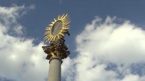 Marian Pillar Column al quadrato di Svoboda a Brno è stato costruito fra 1679 e 1683 in memoria dell'epidemia di peste quello stock footage