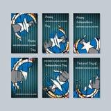 Mariana Islands Patriotic Cards do norte para ilustração stock