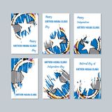 Mariana Islands Patriotic Cards nordica per royalty illustrazione gratis