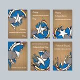 Mariana Islands Patriotic Cards nordica per illustrazione di stock