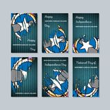 Mariana Islands Patriotic Cards septentrional para stock de ilustración