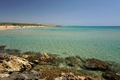 Marianelli Beach sicily nudist and gay friendly. Biew panorama Royalty Free Stock Photos