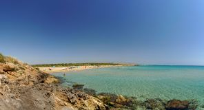 Marianelli Beach sicily nudist and gay friendly. Biew panorama stock photos