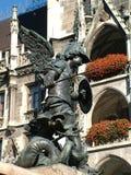 Marianische Spalte München der Engelstatue Lizenzfreie Stockbilder