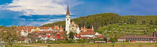 Marianisches Schrein Marija bistrica panoramische Ansicht Stockbilder