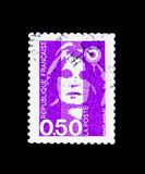 Marianne of Briat, serie, circa 1990. MOSCOW, RUSSIA - NOVEMBER 23, 2017: A stamp printed in France shows Marianne of Briat, serie, circa 1990 Stock Photos