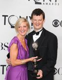 Marianne Elliott and Tom Morris. Co-Directors Marianne Elliott and Tom Morris from England, arrive triumphant in the media room for the 65th Annual Tony Awards Royalty Free Stock Images
