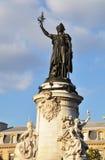 Marianne statue on Place de la République Stock Photo