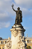 Marianne statue on Place de la République Stock Photo