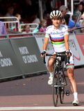 Marianne Voss. On the start line of the Ride London Grand prix Stock Image