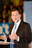 Mariano Rajoy, en L'Hospitalet, España Imágenes de archivo libres de regalías