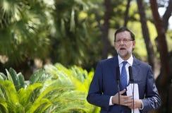 MAriano Rajoy gesturing on speech Stock Photography