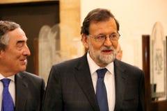 Mariano Rajoy i Barcelona första gång efter 155 Royaltyfri Fotografi