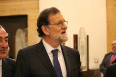 Mariano Rajoy i Barcelona första gång efter 155 Arkivfoto