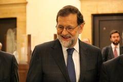 Mariano Rajoy i Barcelona första gång efter 155 Royaltyfria Foton