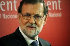 Mariano Rajoy i Barcelona första gång efter 155 Arkivbild
